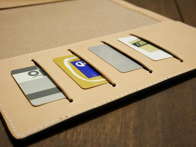 ブライドルレザー手帳カバーカードポケット