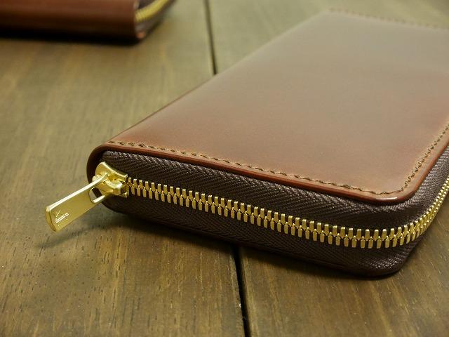 コードバンラウンドファスナー財布