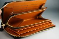 風琴マチL字ファスナー財布 (7)